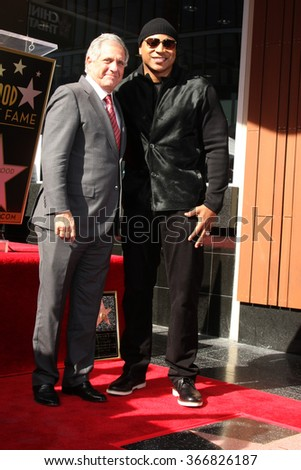 LOS ANGELES - JAN 21:  Les Moonves, LL Cool J at the LL Cool J Hollywood Walk of Fame Ceremony at the Hollywood and Highland on January 21, 2016 in Los Angeles, CA - stock photo