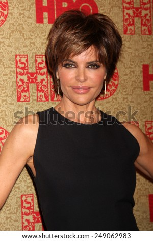 LOS ANGELES - JAN 12:  Lisa Rinna at the HBO 2014 Golden Globe Party  at Beverly Hilton Hotel on January 12, 2014 in Beverly Hills, CA - stock photo