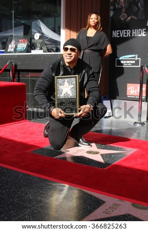 LOS ANGELES - JAN 21:  LL Cool J at the LL Cool J Hollywood Walk of Fame Ceremony at the Hollywood and Highland on January 21, 2016 in Los Angeles, CA - stock photo