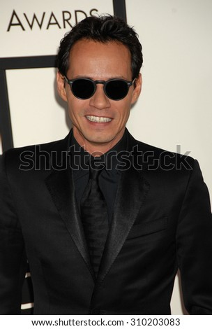 LOS ANGELES - JAN 26:  Marc Anthony  arrives at the 56th Annual Grammy Awards Arrivals  on January 26, 2014 in Los Angeles, CA                 - stock photo