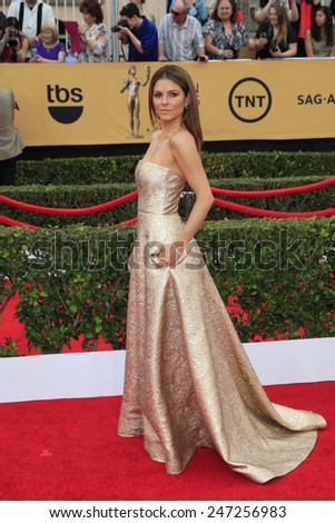 LOS ANGELES - JAN 25:  Maria Menounos at the 2015 Screen Actor Guild Awards at the Shrine Auditorium on January 25, 2015 in Los Angeles, CA - stock photo