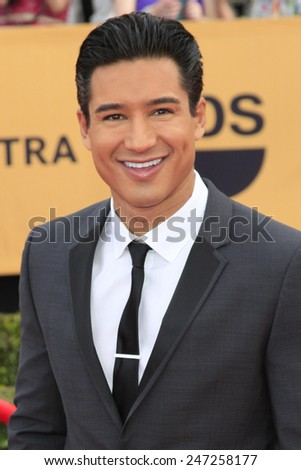 LOS ANGELES - JAN 25:  Mario Lopez at the 2015 Screen Actor Guild Awards at the Shrine Auditorium on January 25, 2015 in Los Angeles, CA - stock photo