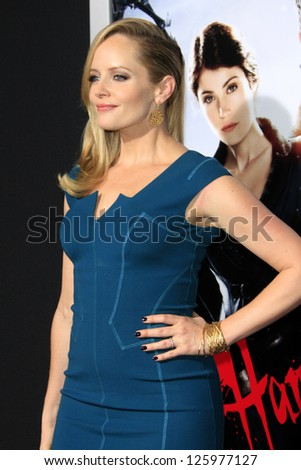 LOS ANGELES - JAN 24:  Marley Shelton arrives at the the 'Hansel And Gretel: Witch Hunters' premiere at the Chinese Theat theer on January 24, 2013 in Los Angeles, CA - stock photo