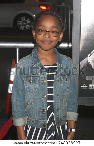 """LOS ANGELES - JAN 20:  Marsai Martin at the """"Manny"""" Los Angeles Premiere at a TCL Chinese Theater on January 20, 2015 in Los Angeles, CA - stock photo"""