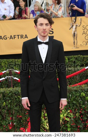 LOS ANGELES - JAN 25:  Matthew Beard at the 2015 Screen Actor Guild Awards at the Shrine Auditorium on January 25, 2015 in Los Angeles, CA - stock photo