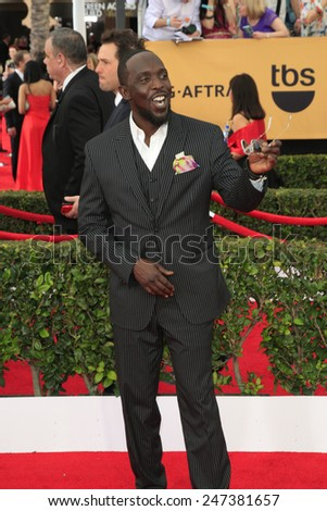 LOS ANGELES - JAN 25:  Michael Kenneth Williams at the 2015 Screen Actor Guild Awards at the Shrine Auditorium on January 25, 2015 in Los Angeles, CA - stock photo