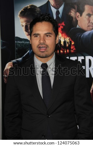 LOS ANGELES - JAN 7: Michael Pena at Warner Bros. Pictures' 'Gangster Squad' premiere at Grauman's Chinese Theater on January 7, 2013 in Los Angeles, California - stock photo