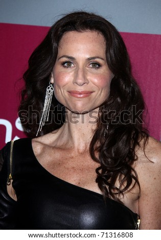 LOS ANGELES - JAN 16:  Minnie Driver arrives to the 12th Annual WB-In Style Golden Globe After Party  on January 16, 2011 in Beverly Hills CA - stock photo