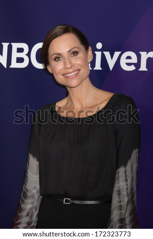LOS ANGELES - JAN 19:  Minnie Driver at the NBC TCA Winter 2014 Press Tour at Langham Huntington Hotel on January 19, 2014 in Pasadena, CA - stock photo