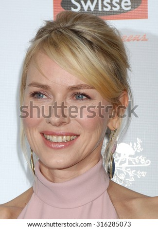 LOS ANGELES - JAN 12 - Naomi Watts arrives at the 2013 GDay USA Los Angeles Black Tie Gala  on January 12, 2013 in Los Angeles, CA              - stock photo