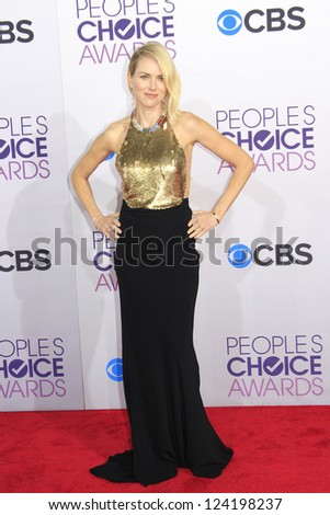LOS ANGELES - JAN 9: Naomi Watts at the 39th Annual People's Choice Awards at Nokia Theater L.A. Live on January 9, 2013 in Los Angeles, California - stock photo