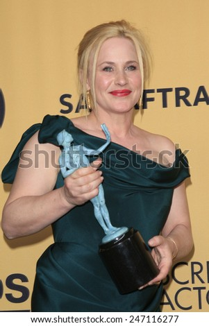 LOS ANGELES - JAN 25:  Patricia Arquette at the 2015 Screen Actor Guild Awards at the Shrine Auditorium on January 25, 2015 in Los Angeles, CA - stock photo