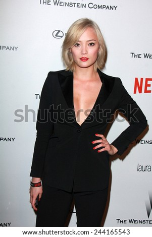LOS ANGELES - JAN 11:  Pom Klementieff at the The Weinstein Company / Netflix Golden Globes After Party at a Beverly Hilton Adjacent on January 11, 2015 in Beverly Hills, CA - stock photo