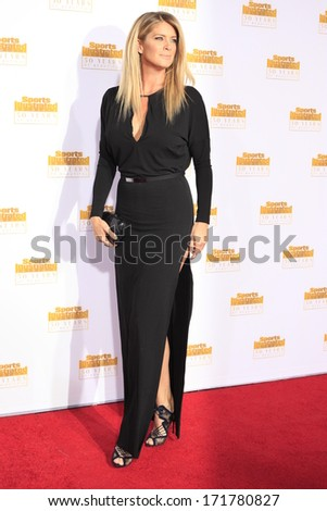 LOS ANGELES - JAN 14:  Rachel Hunter at the 50th Sports Illustrated Swimsuit Issue at Dolby Theatre on January 14, 2014 in Los Angeles, CA - stock photo