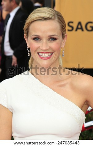 LOS ANGELES - JAN 25:  Reese Witherspoon at the 2015 Screen Actor Guild Awards at the Shrine Auditorium on January 25, 2015 in Los Angeles, CA - stock photo