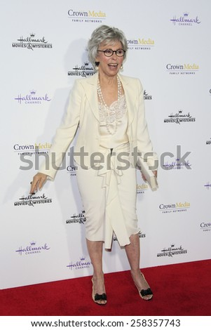 LOS ANGELES - JAN 8: Rita Moreno at the TCA Winter 2015 Event For Hallmark Channel and Hallmark Movies & Mysteries at Tournament House on January 8, 2015 in Pasadena, CA - stock photo