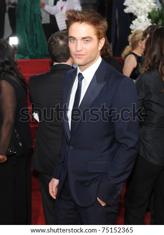 LOS ANGELES - JAN 16:  Robert Pattinson arrives to the 68th Annual Golden Globe Awards  on January 16, 2011 in Beverly Hills, CA - stock photo