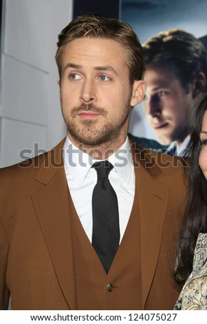 LOS ANGELES - JAN 7: Ryan Gosling at Warner Bros. Pictures' 'Gangster Squad' premiere at Grauman's Chinese Theater on January 7, 2013 in Los Angeles, California - stock photo