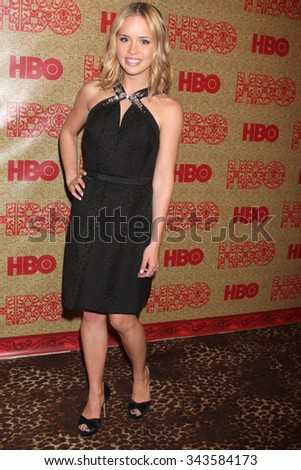 LOS ANGELES - JAN 12:  Ryann Shane at the HBO 2014 Golden Globe Party at the Beverly Hilton Hotel on January 12, 2014 in Beverly Hills, CA - stock photo