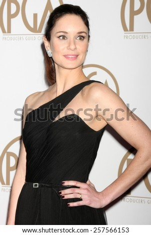 LOS ANGELES - JAN 24:  Sarah Wayne Callies at the Producers Guild of America Awards 2015 at a Century Plaza Hotel on January 24, 2015 in Century City, CA - stock photo