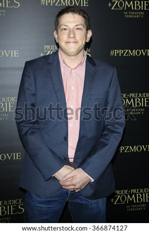 LOS ANGELES - JAN 21:  Seth Grahame-Smith at the Pride And Prejudice And Zombies Premiere at the Harmony Gold Theatre on January 21, 2016 in Los Angeles, CA - stock photo