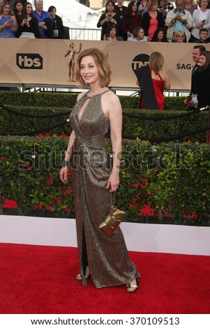 LOS ANGELES - JAN 30:  Sharon Lawrence at the 22nd Screen Actors Guild Awards at the Shrine Auditorium on January 30, 2016 in Los Angeles, CA - stock photo