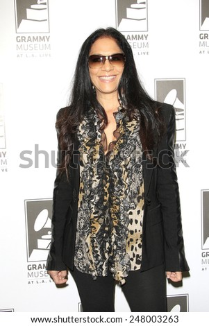 LOS ANGELES - JAN 28: Sheila E at the 30th Anniversary of 'We Are The World' at The GRAMMY Museum on January 28, 2015 in Los Angeles, California - stock photo