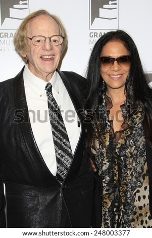 LOS ANGELES - JAN 28: Sheila E, Ken Kragen at the 30th Anniversary of 'We Are The World' at The GRAMMY Museum on January 28, 2015 in Los Angeles, California - stock photo