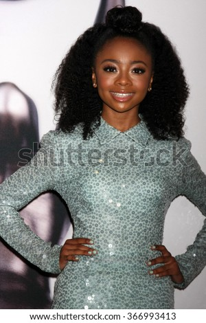 LOS ANGELES - JAN 23:  Skai Jackson at the 47th NAACP Image Awards Nominees Luncheon at the Beverly Hilton Hotel on January 23, 2016 in Beverly Hills, CA - stock photo