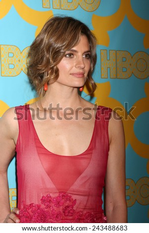 LOS ANGELES - JAN 11:  Stana Katic at the HBO Post Golden Globe Party at a Circa 55, Beverly Hilton Hotel on January 11, 2015 in Beverly Hills, CA - stock photo