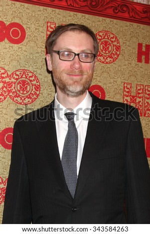 LOS ANGELES - JAN 12:  Stephen Merchant at the HBO 2014 Golden Globe Party at the Beverly Hilton Hotel on January 12, 2014 in Beverly Hills, CA - stock photo