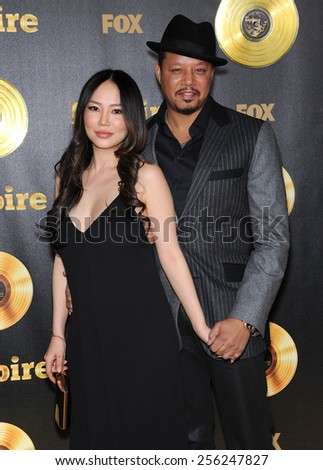 "LOS ANGELES - JAN 06:  Terrence Howard & Miranda Howard arrives to the ""Empire"" Los Angeles Premiere  on January 6, 2015 in Hollywood, CA                 - stock photo"