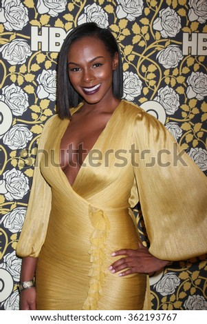 LOS ANGELES - JAN 10:  Tika Sumpter at the HBO Golden Globes After Party 2016 at the Beverly Hilton on January 10, 2016 in Beverly Hills, CA - stock photo