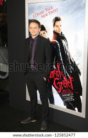 LOS ANGELES - JAN 23: Tommy Wirkola at the LA premiere of Paramount Pictures' 'Hansel And Gretel: Witch Hunters' at Grauman's Chinese Theater on January 24, 2013 in Los Angeles, California - stock photo