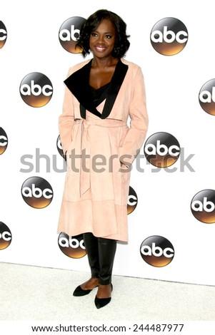 LOS ANGELES - JAN 14:  Viola Davis at the ABC TCA Winter 2015 at a The Langham Huntington Hotel on January 14, 2015 in Pasadena, CA - stock photo