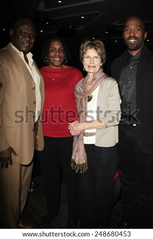 LOS ANGELES - JAN 28: Wale Jimoh, Marcia Thomas, Dr Tamela Hultman, Ntare Guma Mbaho, Mwine at the 30th Anniversary of 'We Are The World' at The GRAMMY Museum on January 28, 2015 in Los Angeles, CA - stock photo