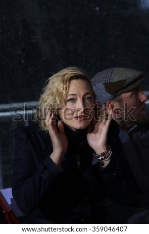 LOS ANGELES - JAN 5: Zoe Bell at a ceremony as Quentin Tarantino is honored with hand & footprints at the TCL Chinese Theatre IMAX on January 5, 2016 in Los Angeles, CA - stock photo