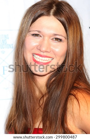 "LOS ANGELES - JUL 23:  Carolin Von Petzholdt at the ""The Boom Boom Girls of Wrestling"" Premiere at the Downtown Independent Theater on July 23, 2015 in Los Angeles, CA - stock photo"
