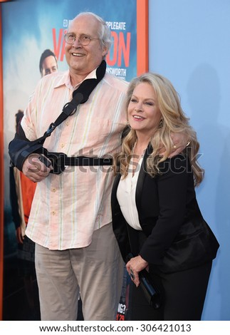 "LOS ANGELES - JUL 27:  Chevy Chase & Beverly D'Angelo arrives to the ""Vacation"" Los Angeles Premiere  on July 27, 2015 in Westwood, CA                 - stock photo"