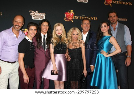 "LOS ANGELES - JUL 24:  Descendants Casat the ""Descendants"" Premiere Screening at the Walt Disney Studios on July 24, 2015 in Burbank, CA - stock photo"