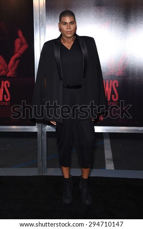 "LOS ANGELES - JUL 07:  EJ Johnson arrives to the ""The Gallows"" Los Angeles Premiere  on July 07, 2015 in Hollywood, CA                 - stock photo"
