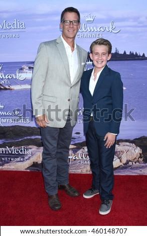 LOS ANGELES - JUL 27:  James Denton, Sheppard Denton arrive to the Hallmark Channel, Hallmark Movies, Mysteries Summer 2016 TCA Press Tour Event on July 27, 2016 in Beverly Hills, CA                 - stock photo