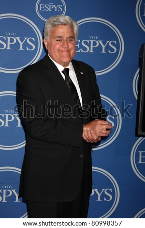 LOS ANGELES - JUL 13:  Jay Leno in the Press Room of the 2011 ESPY Awards at Nokia Theater at LA Live on July 13, 2011 in Los Angeles, CA - stock photo