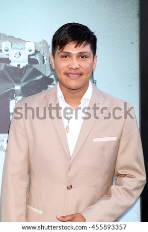 "LOS ANGELES - JUL 19:  Jonny Ortiz at the ""Lights Out"" Los Angeles Premiere at the TCL Chinese Theater IMAX on July 19, 2016 in Los Angeles, CA - stock photo"