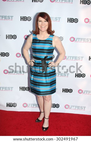 "LOS ANGELES - JUL 11:  Kate Flannery at the ""Tab Hunter Confidential"" at Outfest at the Directors Guild of America on July 11, 2015 in Los Angeles, CA - stock photo"