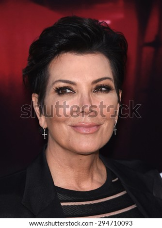 """LOS ANGELES - JUL 07:  Kris Jenner arrives to the """"The Gallows"""" Los Angeles Premiere  on July 07, 2015 in Hollywood, CA                 - stock photo"""