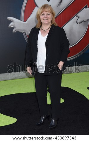 "LOS ANGELES - JUL 9:  Lesley Nicol arrives to the ""Ghostbusters"" World Premiere  on July 9, 2016 in Hollywood, CA                 - stock photo"