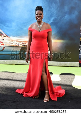 "LOS ANGELES - JUL 9:  Leslie Jones arrives to the ""Ghostbusters"" Los Angeles Premiere on July 09, 2016 in Hollywood, CA.                - stock photo"