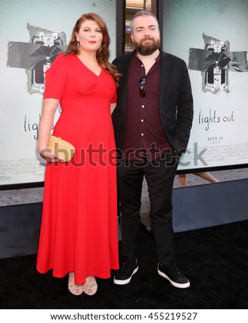 "LOS ANGELES - JUL 19:  Lotta Losten, David Sandberg at the ""Lights Out"" Los Angeles Premiere at the TCL Chinese Theater IMAX on July 19, 2016 in Los Angeles, CA - stock photo"