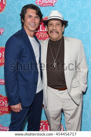 """LOS ANGELES - JUL 16:  Lou Diamond Phillips & Danny Trejo arrives to the Disney Channel's """"Elena of Avalor"""" Los Angeles Premiere on July 16, 2016 in Beverly Hills, CA                 - stock photo"""